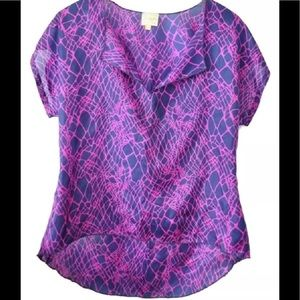 Anthropologie Postell Silk Blouse Shirt Top
